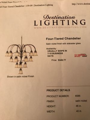 Four-Tiered Chandelier for Sale in Renton, WA