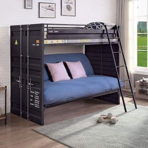 INDUSTRIAL CONTAINER INSPIRED TWIN OVER FULL SIZE FUTON BUNK BED / LITERA SOFA SILLON CAMA SENCILLA MATRIMONIAL for Sale in Los Angeles, CA