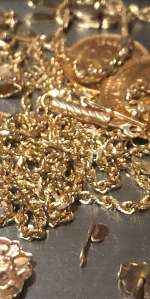 Oro gold 10k 14k 18k 22k 999 24k chains pendants coins bracelets rings monedas dijes anillos cadenas for Sale in Sacramento, CA