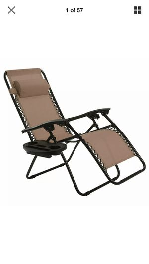 (NEW)Folding Zero Gravity Reclining Lounge Chair Outdoor Beach Patio W/Utility Tray (FREE SHIPPING) for Sale in Coppell, TX