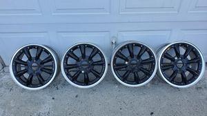 Rs8 black 4x100 rims for Sale in Rosemead, CA