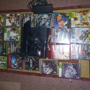 Slim Xbox360 , 19 Games For PS3 (8) & Xbox360 (6) Kink Console, With All Plugs, No Controller for Sale in Roosevelt, AZ