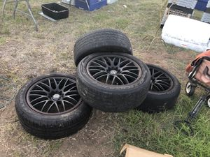Black rims and tires for Sale in Oceanside, CA
