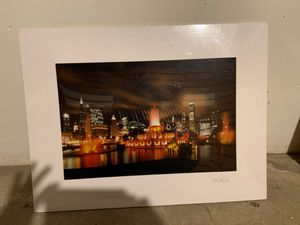 Photograph city of Chicago singed bye the artist for Sale in Elmhurst, IL
