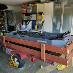 8 Feet Boat And Trailer Etc (Read Description) for Sale in Salida, CA