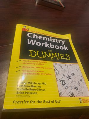 Chemistry workbook for dummies for Sale in Pasadena, CA