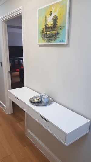 """Convenient wall mountable side/ console table 47""""W x 12""""D x 4.7""""H for Sale for sale  New York, NY"""