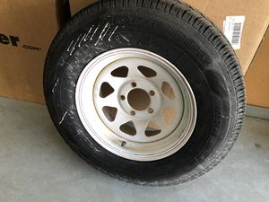 """6 trailer wheels and tires 14"""" standard 5 bolt pattern for Sale in Fontana, CA"""