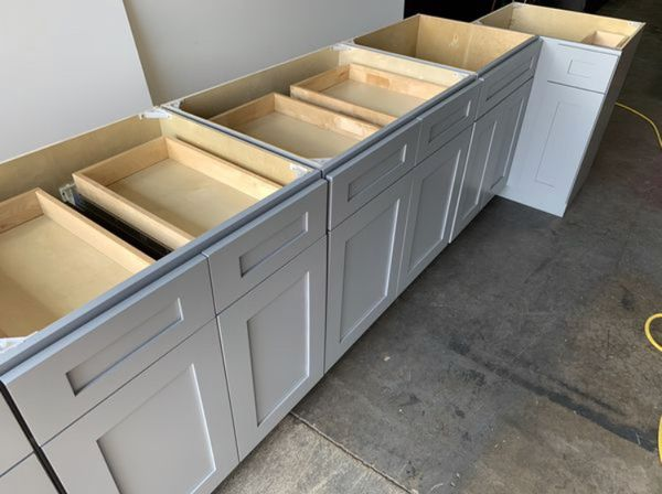 Gray Shaker Kitchen Cabinets Leftover Set for Sale in St ...