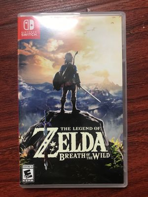 The Legend of Zelda Breath of the Wild Nintendo Switch game Mario for Sale in Los Angeles, CA