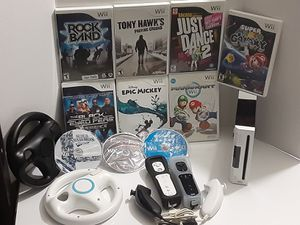 Wii Black and White Console Mario Kart for Sale in Corona, CA