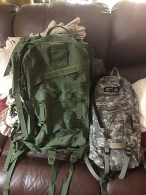 Military back pack and water holder for Sale in Annandale, VA