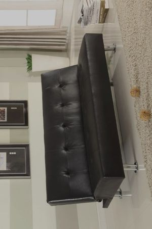 📣SAME DAY DELİVERY📣👉 ♥️$39 down payment🎈- RAMO BLACK PU CLIK-CLAK FUTON SOFA BED   4415K for Sale in West Laurel, MD