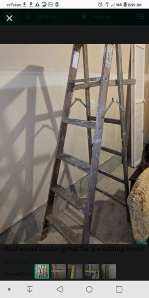 Real wooden ladder for Sale in Fenton, MO