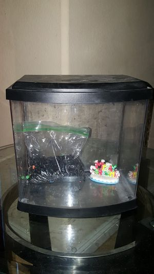 Small fish tank in great condition with some rocks and 1 decoration $20 for Sale in North Las Vegas, NV
