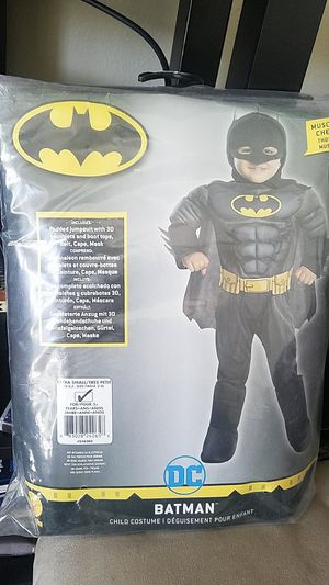 DC Batman Costume -- XS/3+ yrs for Sale in Bellflower, CA