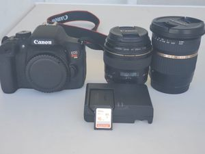 Canon T6i Canon 85mm f/1.8 Tamron 10-24 f/3.5-4.5 for Sale in Orem, UT