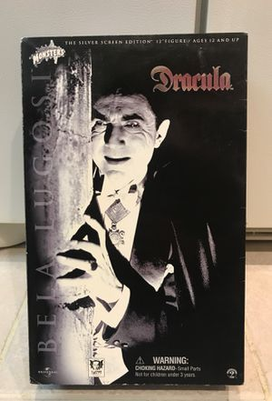 """SIDESHOW TOYS/ UNIVERSAL STUDIOS MONSTERS- SILVER SCREEN EDITION COLLECTABLE 12"""" BELA LUGOSI /DRACULA. (NIB)! for Sale in Oceanside, CA"""