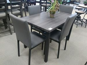 New Grey Color Dining Table w/4 Chairs for Sale in Austin, TX