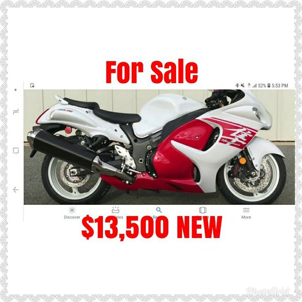 Odoneter 10 miles Suzuki hayabusa motorcycle brand new gsx1300 clear title