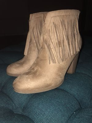Tan Suede Fringe Booties for Sale in Alexandria, VA