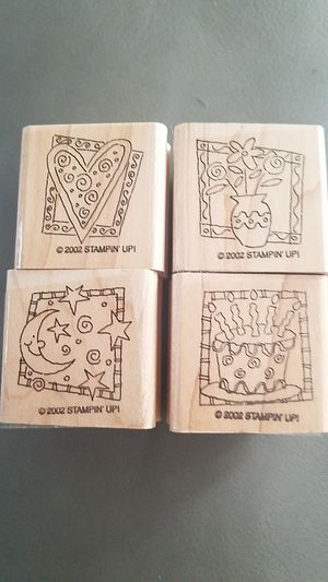 Set of 4 Stampin up stamps for Sale in Clearwater, FL