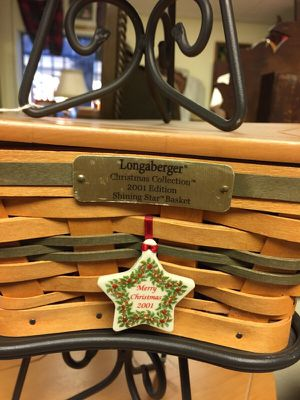 Longaberger Christmas collection shining star baskets for Sale in Las Vegas, NV