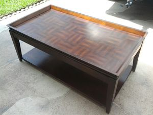 Netflix Tv dinner coffee table top extends out Gaming or sofa surfing eating wood furniture for Sale in Pompano Beach, FL