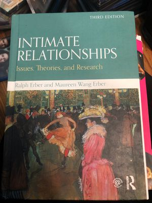 Intimate Relationships: Issues, Theories and Research 3rd Edition for Sale in Glen Ellyn, IL