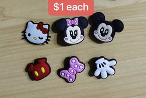 6pcs cute charms for crocs clog Disney Minnie micky daisy Donald Duck for Sale in Corona, CA