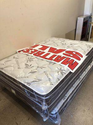 full mattress with boxspring for Sale in San Bernardino, CA