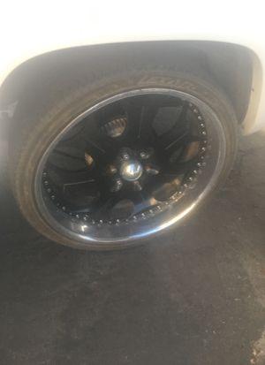 Black 26 inch rims for Sale in Las Vegas, NV