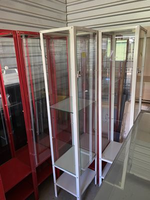 Glass Red & White Display Cases For Merchandise for Sale in Carrollton, TX