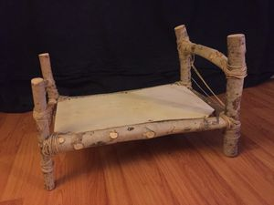 Real wood photography prop bed , good for multiple and or 6m-1y old baby for Sale in Santa Monica, CA