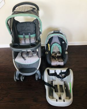 Graco FastAction Fold Travel System (Stroller and Car Seat) for Sale in Cumming, GA