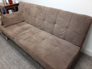 Sleeper Sofa Futon Nice Shape Clean w/ Pillows for Sale in Smyrna, TN