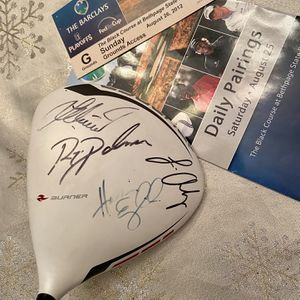 SIGNED PGA Tour Taylormade Driver H. English R. Palmer L. Oosthuizen L. Westwood for Sale in Port Jefferson Station, NY