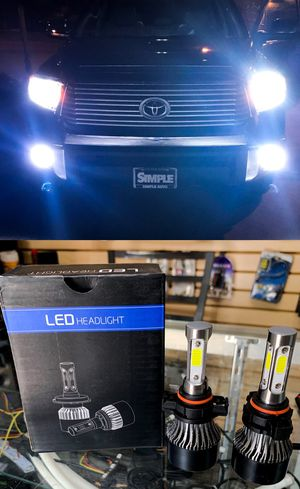 BIG SALE led headlights or fog lights for ANY car $25 & FREE license plate led for Sale in East Los Angeles, CA