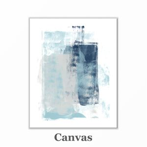 Blue abstract canvas wall art print 24x30 for Sale in West Olive, MI