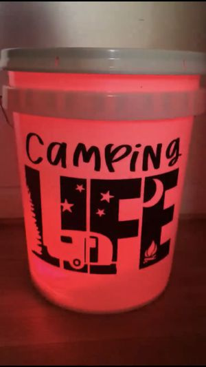Camping bucket with led light with remote for Sale in Winston-Salem, NC