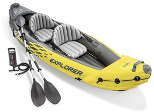 Brand New Intex Explorer K2 Kayak, 2-Person Kayak Set with Oars and Pump for Sale in Brooklyn, NY