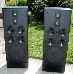 Vintage Polk Audio SDA-1C Studio Speakers with Connection Cable & Original Grills for Sale in Cave Creek, AZ