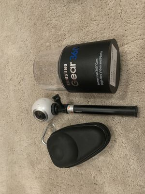 Gear 360 camera with case and stick set for Sale in Lathrop, CA
