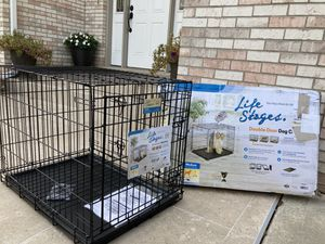 Life stages double door dog cage for Sale in Downers Grove, IL