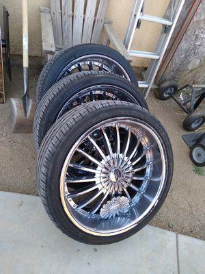22 inch rims for Sale in Hemet, CA