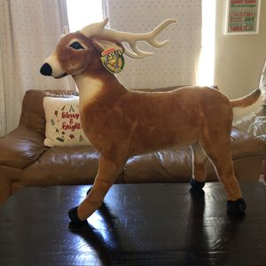 Melissa & Doug large deer posable plush zoo animals new decorative stuffed animal for Sale in Miami, FL