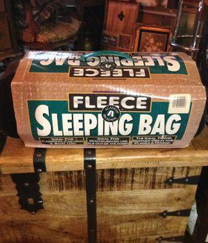 Fleece sleeping bag great for travel for Sale in Powhatan, VA
