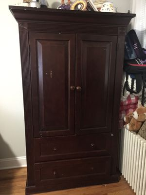 Armoire and dresser as a set for Sale in Long Branch, NJ