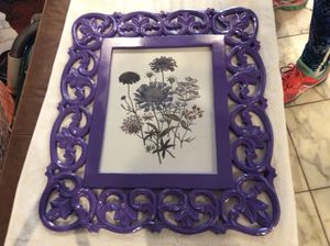 Beautiful grape purple picture frame for your artwork!! $40 for Sale in Downers Grove, IL