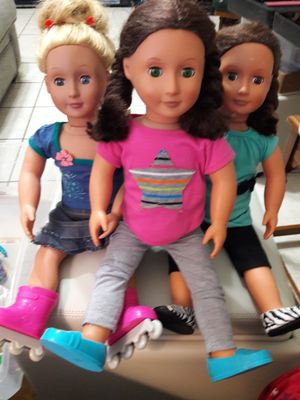 American Girl Generation dolls, clothes (some clothes not posted) , shoes, accessories, $95 for Sale in Euless, TX